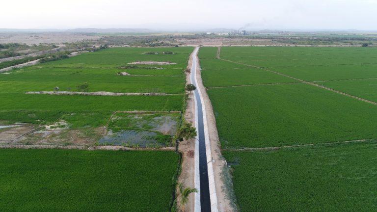 Rehabilitan 2 canales de riego en beneficio de 429 agricultores de Piura