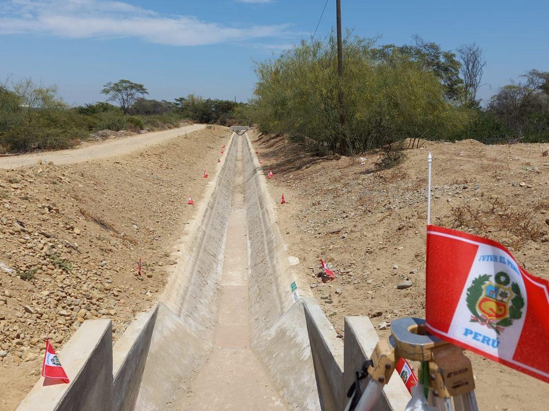 Piura: inauguran canal de riego en Sullana con una inversión de S/ 2.9 millones